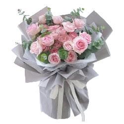 22朵粉玫瑰,深深的爱上了你