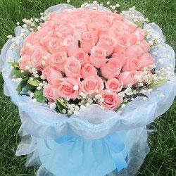 99朵戴安娜粉玫瑰,无限爱你