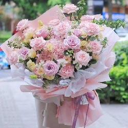 19朵戴安娜粉玫瑰,用心去爱你