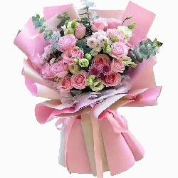 22朵戴安娜粉玫瑰,今生无悔
