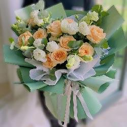 11朵香槟玫瑰,11朵桔梗,你是我最爱的人