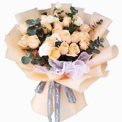 17朵香槟玫瑰,我的世界与你在一起