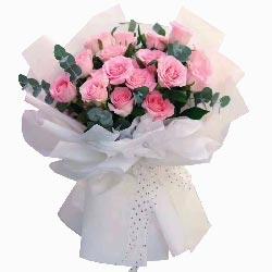18朵苏醒粉玫瑰,因为有你我幸福