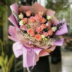 11朵戴安娜粉玫瑰,永远美丽