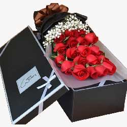 19朵红玫瑰礼盒,对你的爱永不改变