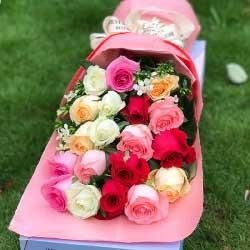 19朵玫瑰礼盒,爱你我愿意付出一切