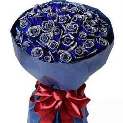 33朵蓝玫瑰,爱你是最幸福的