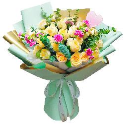 33朵香槟玫瑰,幸福爱情