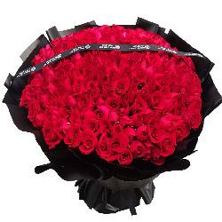 365朵红玫瑰,与你在一起生命的每一天