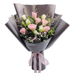 11朵玫瑰混搭,永远爱你