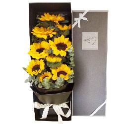 9朵向日葵礼盒,遥寄我思念