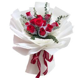 11朵红玫瑰,深厚情缘