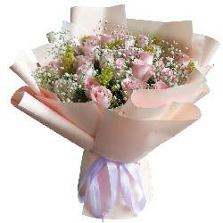 18朵戴安娜粉玫瑰,缠缠绵绵