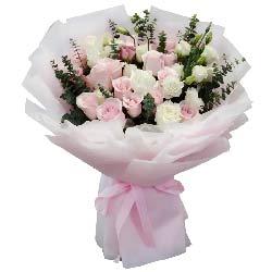 33朵玫瑰花混搭,你是我生命的唯一