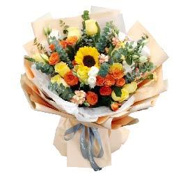 11朵黄玫瑰向日葵,永远的太阳
