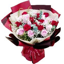 19朵玫瑰混搭,更加爱你