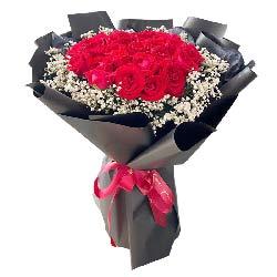 27朵红玫瑰,爱你快乐一生
