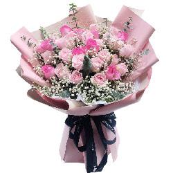 29朵粉玫瑰,你就是我的唯一;