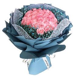 33朵戴安娜粉玫瑰,爱绵延久远