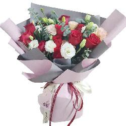11朵红玫瑰桔梗,我对你的爱永不悔