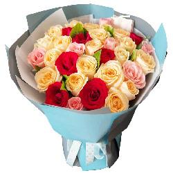 33朵玫瑰混搭,呼唤你的名字