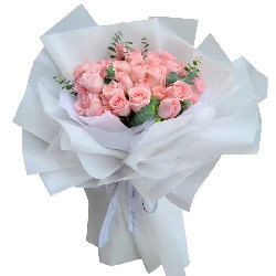 33朵戴安娜粉玫瑰,你是我一生的最爱