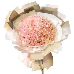 99朵戴安娜粉玫瑰,爱你不需要理由