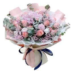 18朵戴安娜粉玫瑰,爱情更幸福
