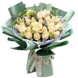33朵香槟玫瑰,每天都想和你相伴