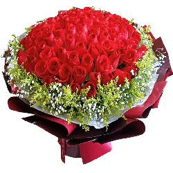 100朵红玫瑰,想你爱你到永远