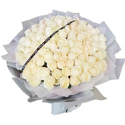 99朵白玫瑰,思念与祝福