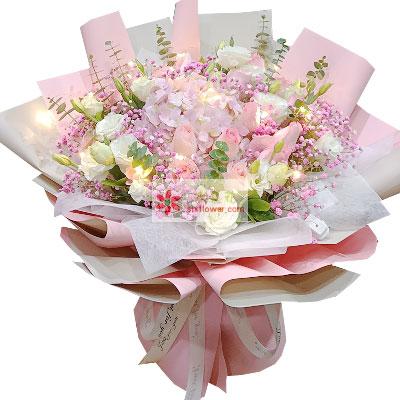 11朵戴安娜粉玫瑰,幸福每一年