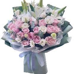 21朵戴安娜粉玫瑰,你是我最爱的人