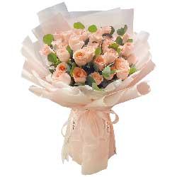 33朵戴安娜粉玫瑰,给你我的温柔与爱