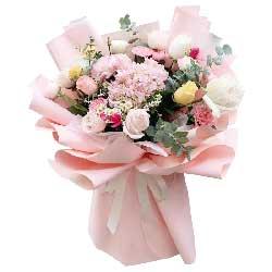 17朵玫瑰康乃馨,祝愿你永远美丽