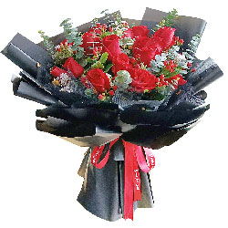 19朵红玫瑰,生此世有你便足矣