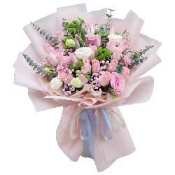 22朵戴安娜粉玫瑰,幸福浪漫