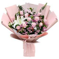 11朵戴安娜粉玫瑰,真爱难得
