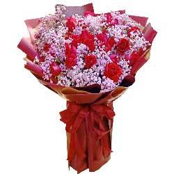 22朵红玫瑰,一生一世陪着你