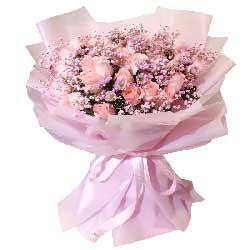 20朵戴安娜粉玫瑰,灿烂的人生岁月