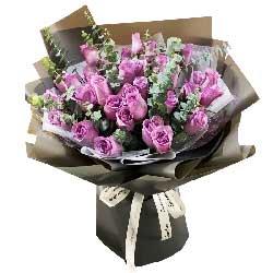 33朵紫玫瑰,与你把梦圆