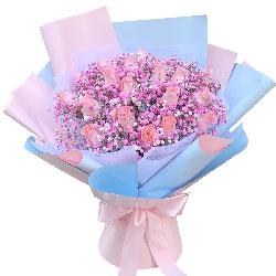 21朵戴安娜粉玫瑰,爱你最真
