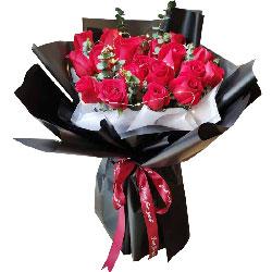 21朵红玫瑰,每一天愿与你牵手度过
