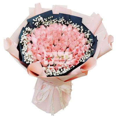 99朵戴安娜粉玫瑰,更加爱你