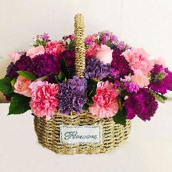 11朵戴安娜粉玫瑰康乃馨,愿幸福来拥抱