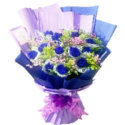 19朵蓝玫瑰,爱的祝福