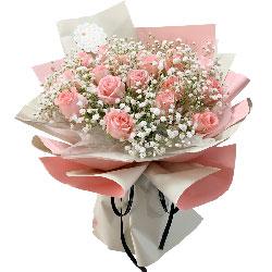 19朵戴安娜粉玫瑰,最真的思念