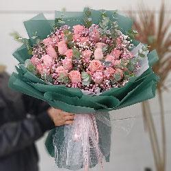 33朵戴安娜粉玫瑰,绵绵爱意