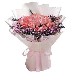 33朵戴安娜粉玫瑰,暖暖的爱送给你