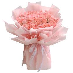 33朵戴安娜粉玫瑰,牵着彼此的手一直走下去